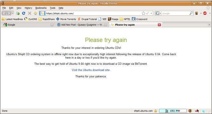 Ubuntu's Free Media Page Offline!