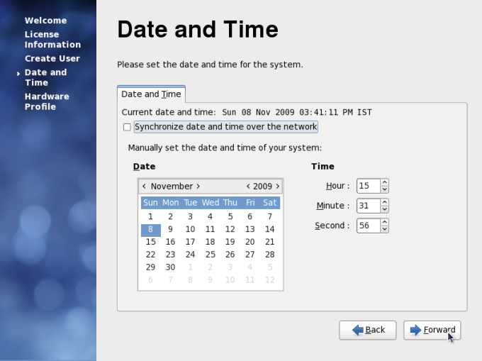 Setting Date and Time