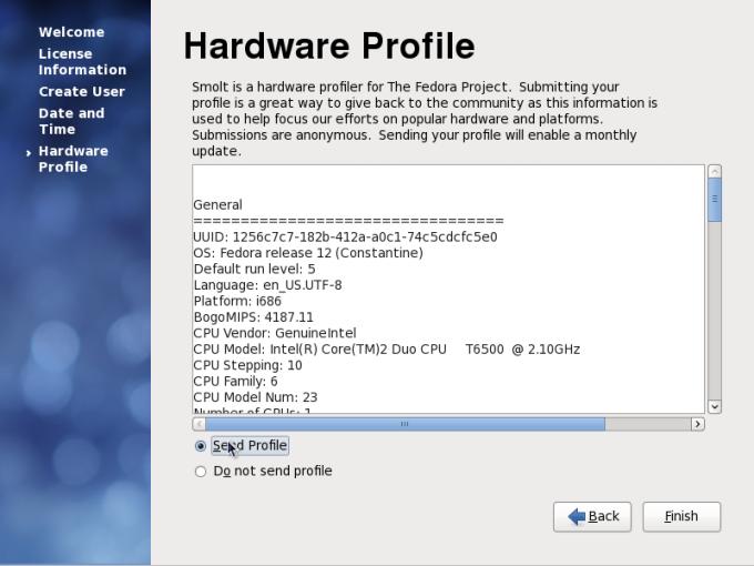 Send your hardware profile