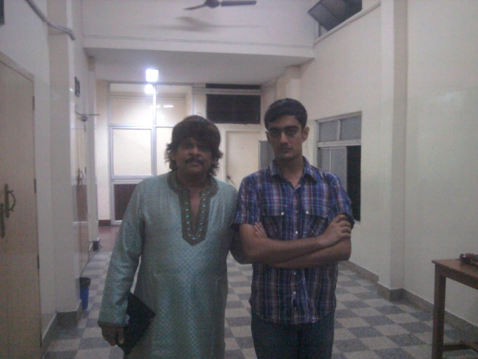 Post concert: Myself with Rajesh Vaidhya