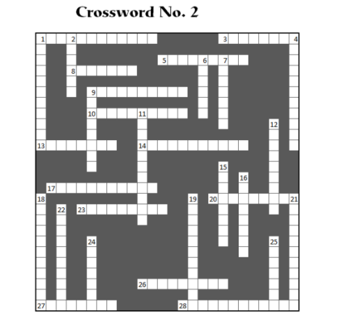 Crossword No. 2