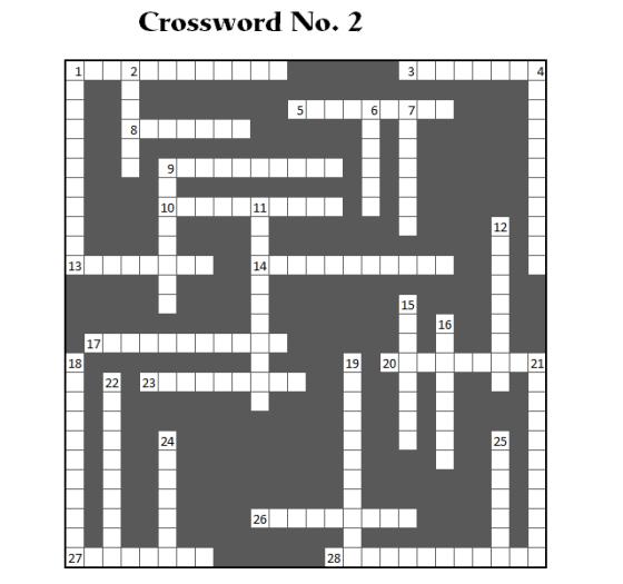 Crossword No. 2